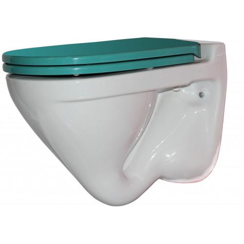 ATTICA LUX (SEA) Унитаз-подвесной, сиденье дюропласт, Soft close, красный, SANITA LUX SL УнAL S