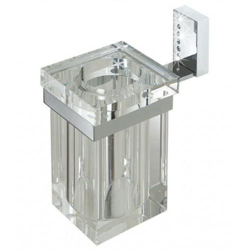 Стакан стеклянный, одинарный, со стразами, Tiffany LUX CR, LineaG