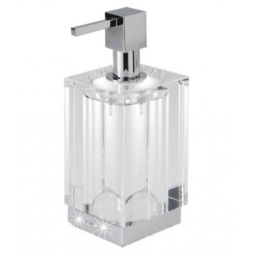 Дозатор для жидкого мыла, настольный, со стразами, Tiffany LUX CR, LineaG