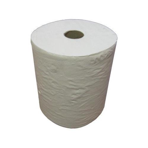 Бумажные полотенца в рулонах. Двухслойные, без перфорации.