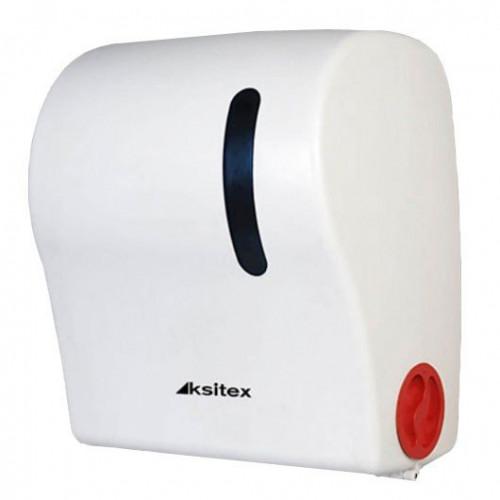 Держатель рулонных полотенец с автоматическим обрезанием бумаги (механический) Ksitex.