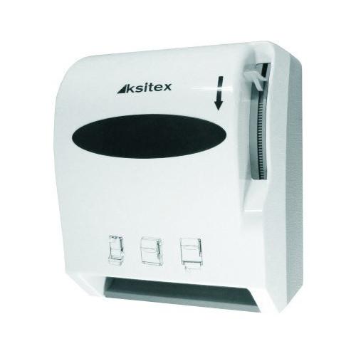 Диспенсер рулонных полотенец с ручным обрезанием бумаги (механический) Ksitex.