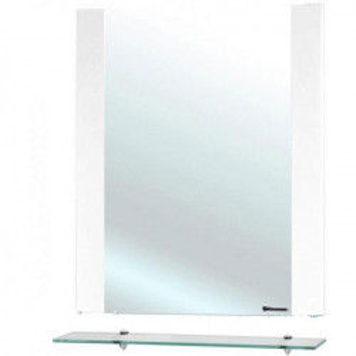 Рокко-60 зеркало с полкой, белое, Bellezza