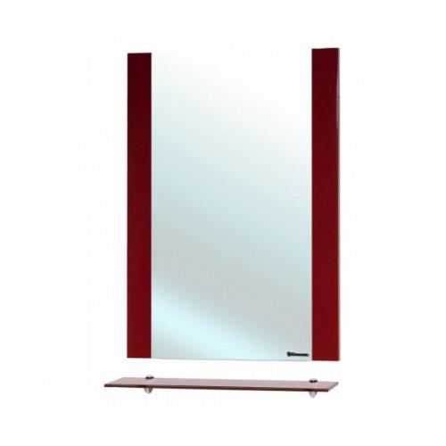 Рокко-80 зеркало с полкой, красное, Bellezza