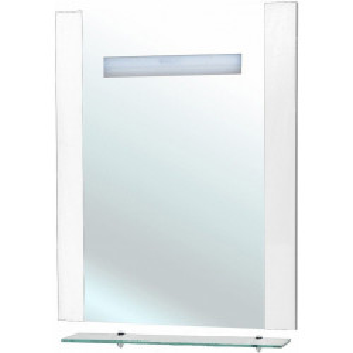Зеркало с полкой, внутренняя подсветка, белое, Берта-75, Bellezza