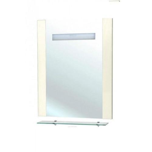 Зеркало с полкой, внутренняя подсветка, бежевое, Берта-75, Bellezza