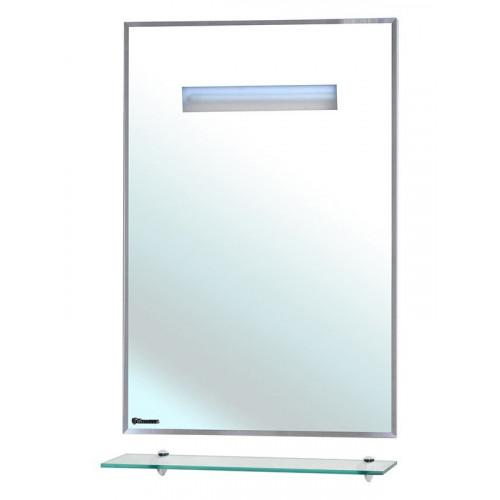 Зеркало с полкой, внутренняя подсветка, белое, Ника-60, Bellezza
