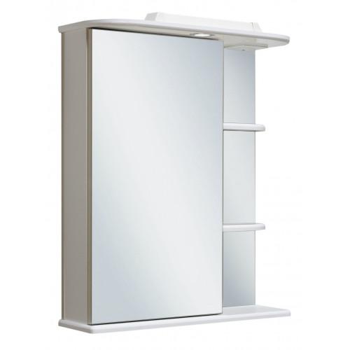 Зеркальный шкаф 60см, Магнолия 60, белый, левый, Runo