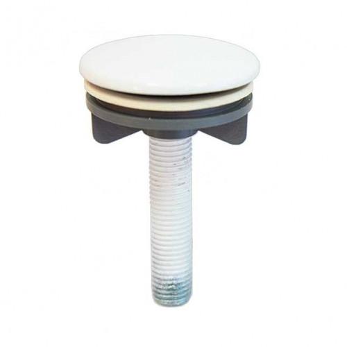 Заглушка отверстия для смесителя на раковине белая.