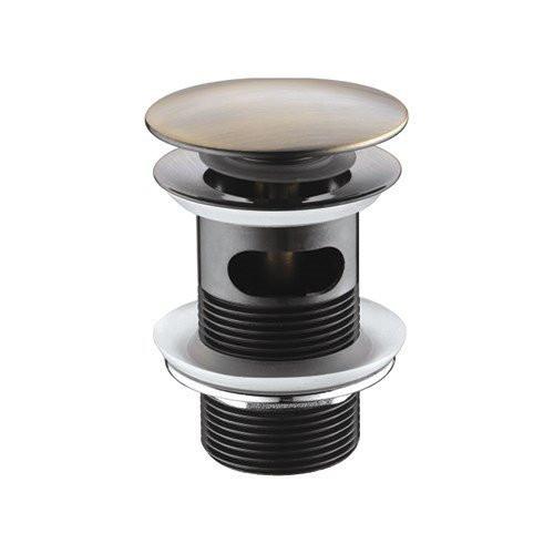 Донный клапан Push-up, светлая бронза, Wasser Kraft