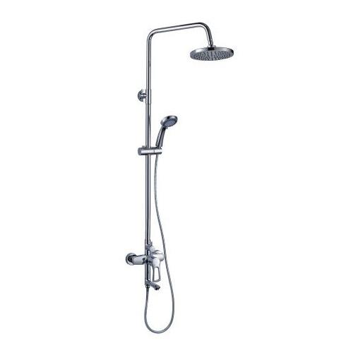 Смеситель для ванны и душа с верхней душевой лейкой, с гарнитуром, T - серия, Rossinka