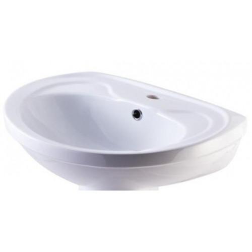 Умывальник 55 см, белый, Лира, Кировская керамика Rosa