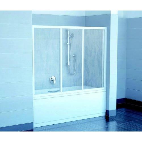 Шторка на ванну AVDP3-150 белый, Rain, Ravak