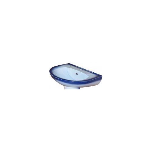 Умывальник 51 см, декор синий, Комфорт, Кировская керамика Rosa