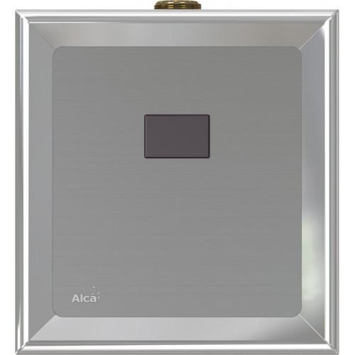 Автоматическое устройство смыва для писсуара, с инфракрасным датчиком, 12 V (сеть), пластик хром, ASP, Alca Plast