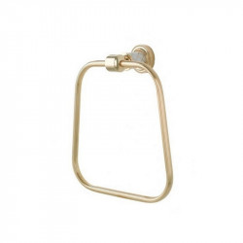 Держатель для полотенца кольцо Boheme Murano золтой с белым 10905-W-G