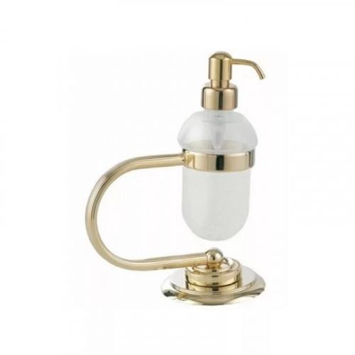 Стакан для зубных щеток стекло настенный Boheme Murano золтой с белым 10904-W-G