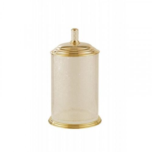 Ведро стекло Boheme Murano золтое с белым 10914-W-G