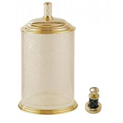 Ведро стекло Boheme Murano золтое с черным 10914-B-G