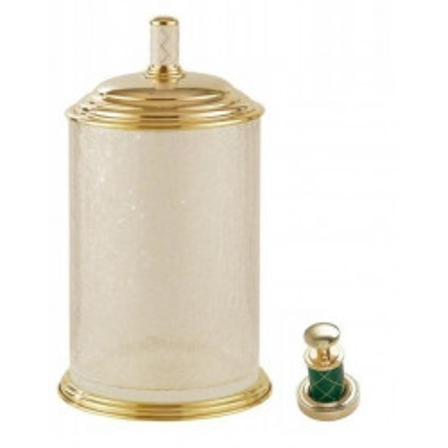 Ведро стекло Boheme Murano золтое с зеленым 10914-GR-G