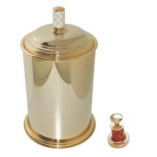 Ведро металл Boheme Murano золтое рубин 10907-R-G