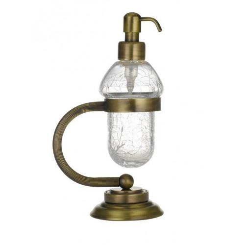 Настольный дозатор для жидкого мыла Boheme Murano золтой 10909-W-G