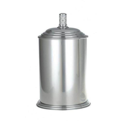 Ведро металл Boheme Murano хром с белым 10907-W-CR
