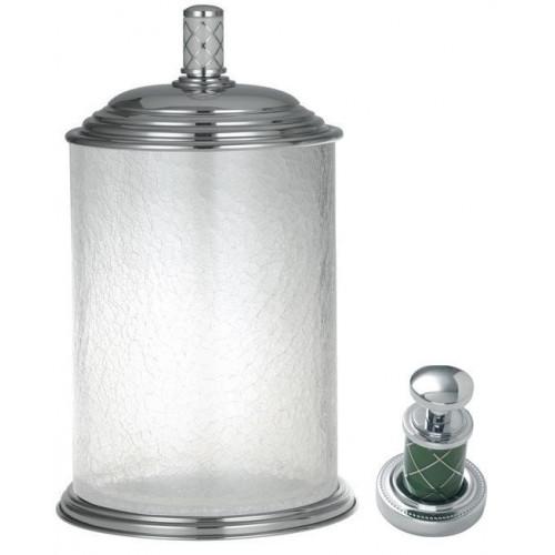 Ведро стекло Boheme Murano хром изумруд 10914-GR-CR