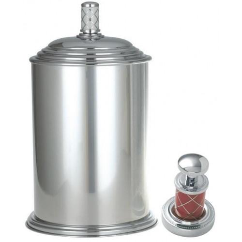 Ведро металл Boheme Murano хром рубин 10907-R-CR