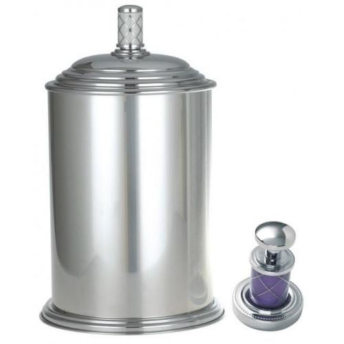 Ведро металл Boheme Murano хром фиалка 10907-V-CR