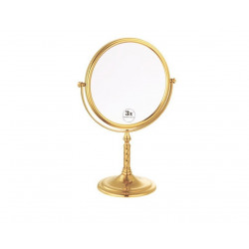 Зекало косметическое настольное Boheme Imperiale золото двухсторонее 504