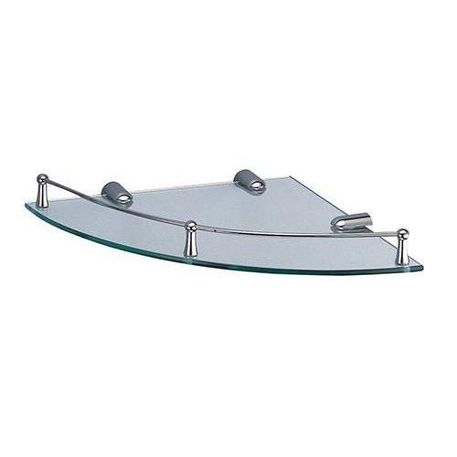 Одинарная полка для ванной стеклянная угловая К-544 Wasser Kraft