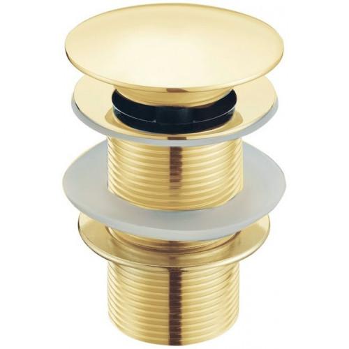 Водослив для умывальника click/clack 5/4 цельнометаллический Boheme Imperiale золото 611