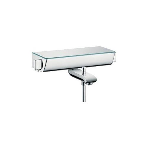 Смеситель для ванны термостат, Ecostat, с полочкой белой, Hansgrohe, 13141000