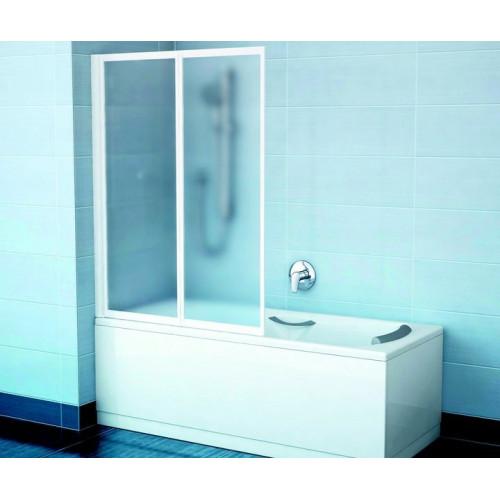Шторка на ванну VS2 105x140, белый, Transparent, Ravak