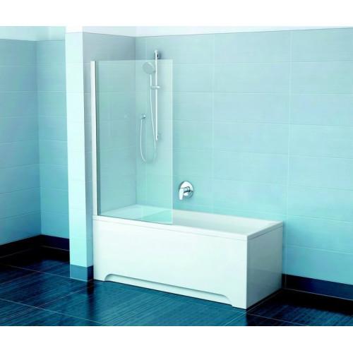 Шторка на ванну PVS1 80x140, сатин, Transparent, Ravak