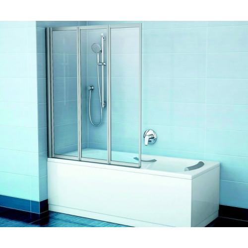 Шторка на ванну VS3 130x140, сатин, Transparent, Ravak