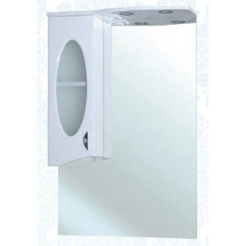 Агата-65 зеркало шкаф, 65 см, белое, левое, правое, Bellezza
