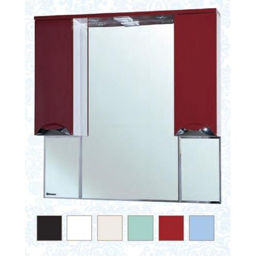 Белла-105 Люкс зеркало шкаф, 101 см, красный, черный, бежевый, салатовый, голубой, левое, правое, Bellezza
