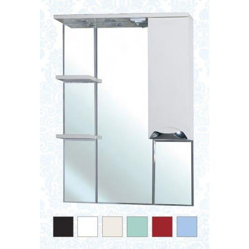 Белла-75 Люкс зеркало шкаф, 74 см, красный, черный, бежевый, салатовый, голубой, левое, правое, Bellezza