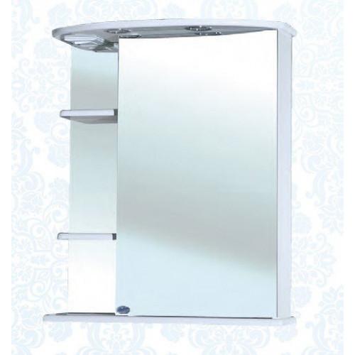 Зеркальный шкаф 60 см, белый, правый, Магнолия-60, Bellezza