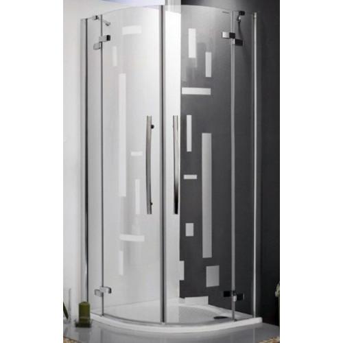 Душевое ограждение Elegant Line GR2/900 Design, полукруглое 90см, профиль хром, Roltechnik