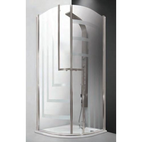 Душевое ограждение Tower Line TR1/90 Design, полукруглое 90см, профиль хром, Roltechnik