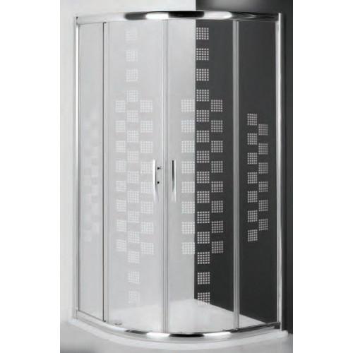 Душевое ограждение Proxima Line PXR2N/900 Design Plus, полукруглое 90см, профиль хром, Roltechnik