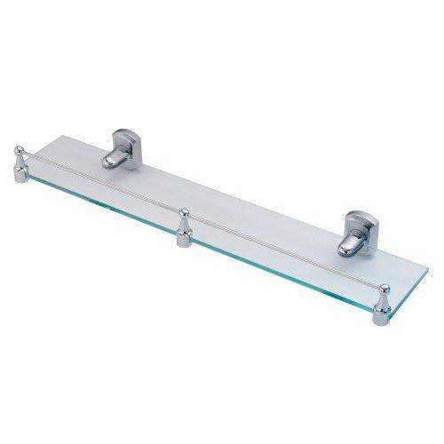 Полка стеклянная с бортиком Wasser Kraft Oder К-3044