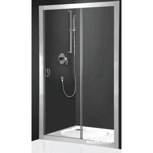 Раздвижная дверка Exclusive Line ECD2/120, 120см, профиль хром, прозрачное стекло, Roltechnik