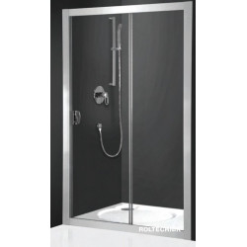 Раздвижная дверка Exclusive Line ECD2/120, 120см, профиль хром, матовое стекло, Roltechnik