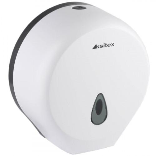 Диспенсер туалетной бумаги Ksitex TH-8002A белый, ударопрочный пластик, замок