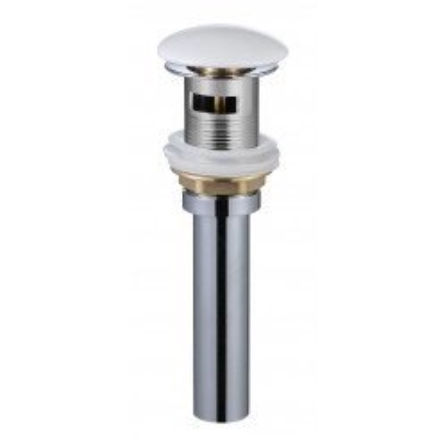 Донный клапан Gid WH100-1 с переливом белый глянцевый