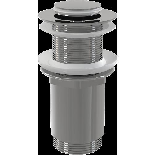 """Донный клапан Alca Plast A394 сифона для умывальника CLICK/CLACK 5/4"""", цельнометаллический с малой заглушкой, без перелива"""